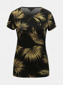 Černé vzorované tričko Dorothy Perkins