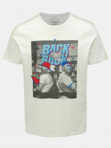 Krémové slim fit tričko Jack & Jones Art