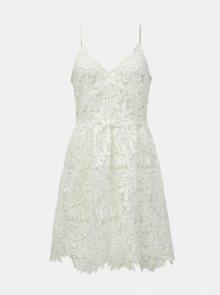 Bílé krajkové šaty na ramínka VERO MODA Luna