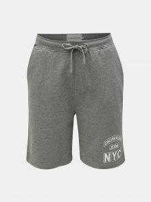Šedé pánské kraťasy s potiskem Calvin Klein Jeans