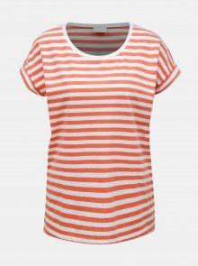 Oranžové pruhované basic tričko VILA Dreamers