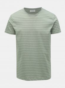 Světle zelené pruhované basic tričko Lindbergh
