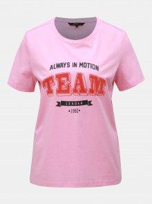 Růžové tričko s potiskem VERO MODA Team