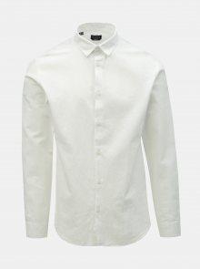 Bílá regular fit košile s příměsí lnu Selected Homme Reglinen