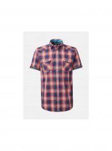 Červená pánská kostkovaná regular fit košile Tom Tailor