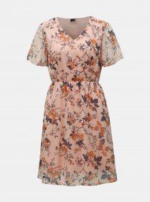Světle růžové květované šaty VERO MODA Wonda