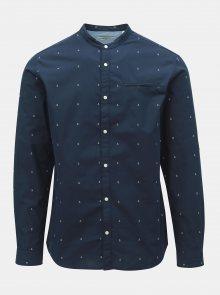 Tmavě modrá vzorovaná slim fit košile Jack & Jones Sailor
