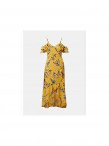 Žluté květované šaty Tom Tailor Denim