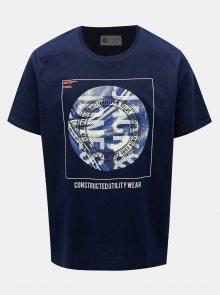 Tmavě modré tričko s potiskem Jack & Jones Jordan