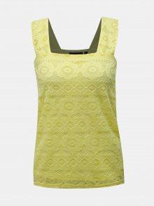 Žlutý krajkový top Dorothy Perkins