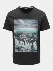 Tmavě šedé tričko s potiskem ONLY & SONS Lamani
