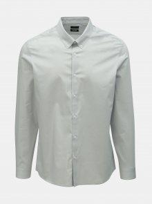 Šedá skinny fit košile Burton Menswear London