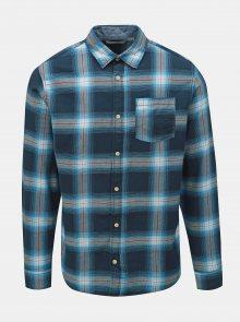 Modrá kostkovaná slim fit košile Jack & Jones Nico