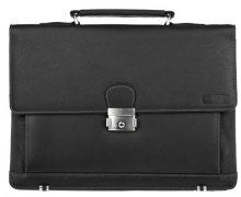 Lagen SLEVA - Kožená taška Black 2079/T