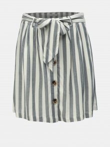 Krémovo-šedá pruhovaná sukně VILA Harper