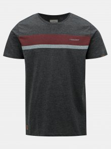 Tmavě šedé pánské tričko s potiskem Ragwear Hake Organic