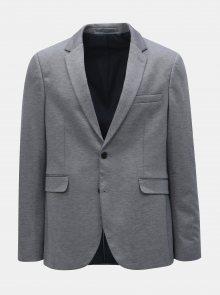 Modré žíhané sako Burton Menswear London