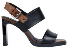 GEOX Dámské sandále Jenieve Black/Brown D92CDA-00043-C0111 39