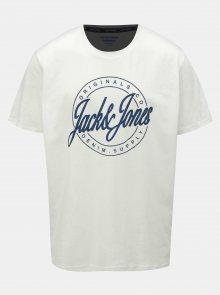 Bílé tričko s potiskem Jack & Jones Hazy