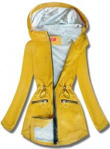 MODOVO Dámská přechodná bunda s kapucí QL-245 žlutá