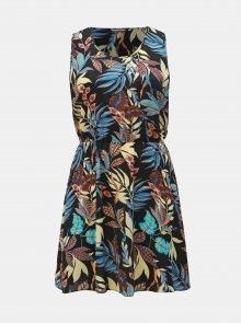 Černé květované šaty ONLY CARMAKOMA Lux