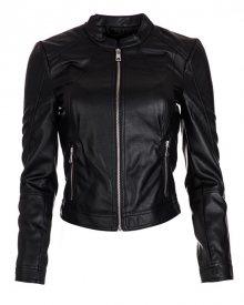 Vero Moda Dámská bunda Ever Short Faux Leather Jacket Black M