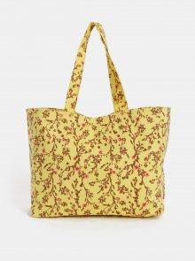 Žlutá květovaná plážová taška Pieces Beth