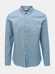 Modrá vzorovaná slim fit košile Selected Homme Moonie