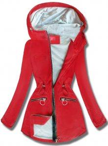 MODOVO Dámská přechodná bunda s kapucí QL-245 červená
