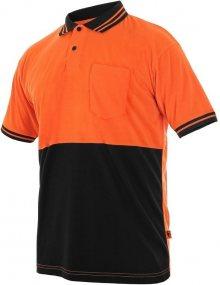 Polokošile s krátkým rukávem LIAM - Oranžová / černá | M