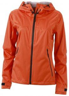 Dámská softshellová bunda s kapucí JN1097 - Tmavě oranžová / ocelově šedá | L