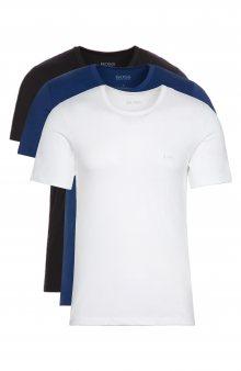 Spodní triko 3 ks BOSS Hugo Boss | Černá Modrá Bílá | Pánské | M
