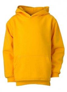 Dětská mikina s kapucí JN047k - Zlatě žlutá | S