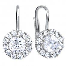 Brilio Silver Stříbrné náušnice s krystaly 436 001 00498 04