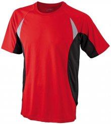Pánské funkční tričko s krátkým rukávem JN391 - Červená / černá | L