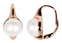 JwL Luxury Pearls Bronzové náušnice s pravými perlami JL0533