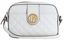 Guess Dámská crossbody kabelka Factory Plush Quilted Camera Crossbody White