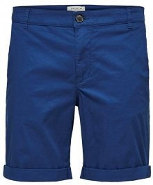SELECTED HOMME Pánské kraťasy Straight-Paris Shorts W Noos Navy Peony M