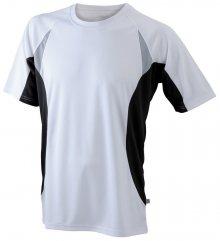 Pánské funkční tričko s krátkým rukávem JN391 - Bílá / černá | L