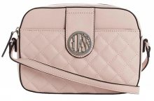 Guess Dámská crossbody kabelka Factory Plush Quilted Camera Crossbody Blush