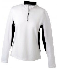 Dámské sportovní tričko s dlouhým rukávem JN317 - Bílá / černá | S