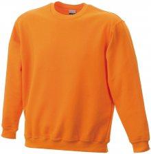 Dětská mikina bez kapuce JN040k - Oranžová | L