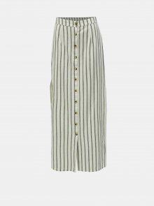 Krémová maxi sukně s příměsí lnu Miss Selfridge