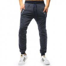 Pánské kalhoty STYLE tepláky tmavě modré