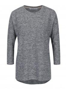 Šedý lehký žíhaný svetr s 3/4 rukávem Haily´s Lena