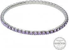 Levien Třpytivý náramek s fialovými krystaly 1459609