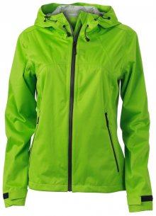 Dámská softshellová bunda s kapucí JN1097 - Jarně zelená / šedá | L