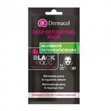 Dermacol Textilní hloubkově detoxikační maska Black Magic (Deep Detoxifying Mask) 15 ml
