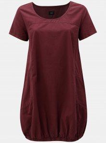 Vínové balónové šaty Zizzi