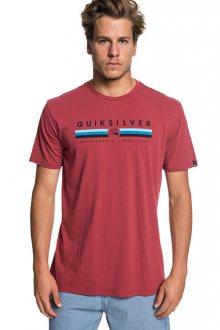Quiksilver Pánské triko Get Bizzy Ss Brick Red EQYZT05263-RQN0 M
